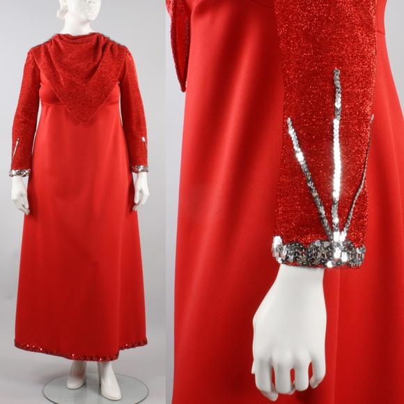 2XL Plus Size Vintage 60s Christmas Party Dress
